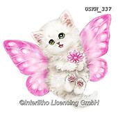 Kayomi, CUTE ANIMALS, LUSTIGE TIERE, ANIMALITOS DIVERTIDOS, paintings+++++,USKH337,#ac#, EVERYDAY ,sticker,stickers ,cat,cats