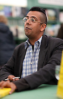 Sunday 25 May 2014, Hay on Wye, UK<br /> Pictured: Simon Singh<br /> Re: The Hay Festival, Hay on Wye, Powys, Wales UK.