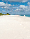 A perfect beach near Paris on the island of Kiritimati in Kiribati.