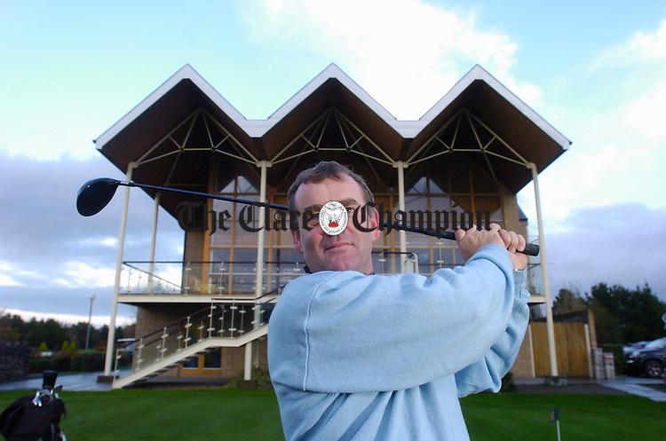 PGA professional at Shannon Golf Club,  Artie Pyke. Photograph by John Kelly.