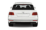 Straight rear view of a 2018 Bentley Bentayga Base 5 Door SUV stock images