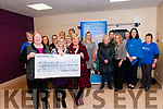 Cheque Presentation: Maura Lenihan, CEO of Kerry Parents & Friends accepting a cheque for €23,188.00 from Margaret McAuliffe, chairperson of the Listowel branch of KP&F, the proceeds of a LipSynch fundraiser held in the Listowel Community Centre in November last at the KP&F centre on Friday night last.
