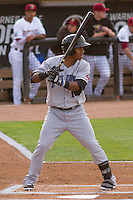 Lake County Captains infielder Claudio Bautista (10) at bat during a Midwest League game against the Wisconsin Timber Rattlers on June 3rd, 2015 at Fox Cities Stadium in Appleton, Wisconsin. Wisconsin defeated Lake County 3-2. (Brad Krause/Four Seam Images)