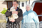 Neill Farwell and Ann O'Neill Inspectors from the Kerry society of prevention of cruelty to animals and Gardai remove four dead Goats and one baby goat that was found alive from a house in Balloonagh estate on Monday evening.