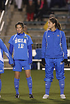 05 December 2008: UCLA's Erin Hardy (12) and Kara Lang (CAN) (right). The University of North Carolina Tar Heels defeated the University of California Los Angeles Bruins 1-0 at WakeMed Soccer Park in Cary, NC in an NCAA Division I Women's College Cup semifinal game.
