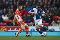 Blackpool's Jimmy Ryan and Blackburn Rovers' Adam Armstrong<br /> <br /> Photographer Rachel Holborn/CameraSport<br /> <br /> The EFL Sky Bet League One - Blackburn Rovers v Blackpool - Saturday 10th March 2018 - Ewood Park - Blackburn<br /> <br /> World Copyright &copy; 2018 CameraSport. All rights reserved. 43 Linden Ave. Countesthorpe. Leicester. England. LE8 5PG - Tel: +44 (0) 116 277 4147 - admin@camerasport.com - www.camerasport.com