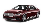 2017 Lincoln Continental Reserve 4 Door Sedan Angular Front stock photos of front three quarter view