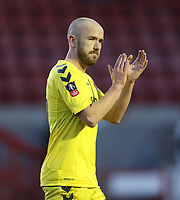 Fleetwood Town's Paddy Madden applauds the fans at the end of the game<br /> <br /> Photographer Rob Newell/CameraSport<br /> <br /> Emirates FA Cup Second Round - Crawley Town v Fleetwood Town - Sunday 1st December 2019 - Broadfield Stadium - Crawley<br />  <br /> World Copyright © 2019 CameraSport. All rights reserved. 43 Linden Ave. Countesthorpe. Leicester. England. LE8 5PG - Tel: +44 (0) 116 277 4147 - admin@camerasport.com - www.camerasport.com