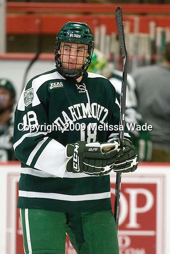 Joe Stejskal (Dartmouth - 18) - The Dartmouth College Big Green defeated the Harvard University Crimson 6-2 on Sunday, November 29, 2009, at Bright Hockey Center in Cambridge, Massachusetts.