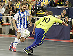 Pescara's Mauro Canal (l) and Inter FS's Ricardinho during UEFA Futsal Cup 2015/2016 Semifinal match. April 22,2016. (ALTERPHOTOS/Acero)