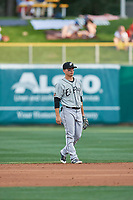 Luis Urias (3) of the El Paso Chihuahuas during the game against the Salt Lake Bees at Smith's Ballpark on July 5, 2018 in Salt Lake City, Utah. El Paso defeated Salt Lake 3-2. (Stephen Smith/Four Seam Images)