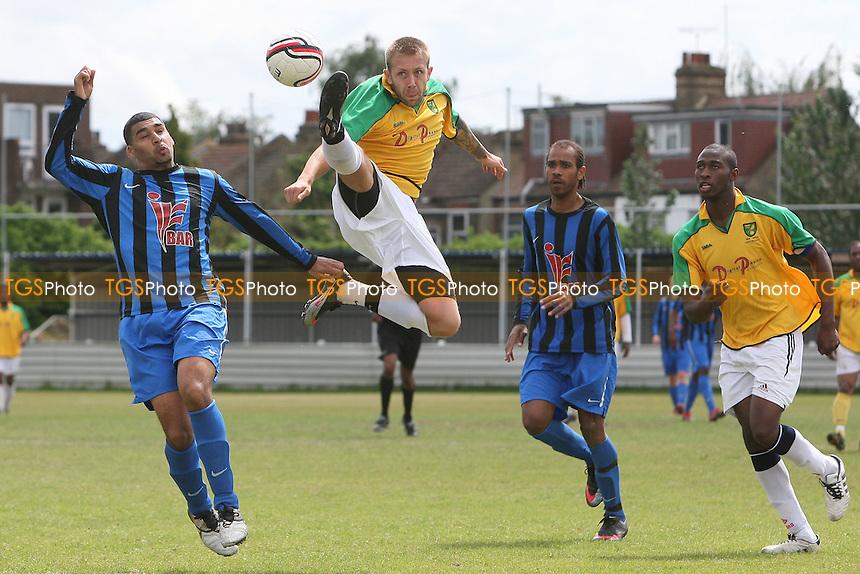 Bancroft United (yellow/white) vs Lapton (blue/black) - Hackney & Leyton Sunday League Jack Walpole Cup Final at Wadham Lodge - 08/05/11 - MANDATORY CREDIT: Gavin Ellis/TGSPHOTO - Self billing applies where appropriate - Tel: 0845 094 6026