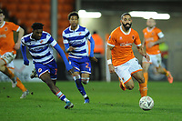 Blackpool's Liam Feeney under pressure from Reading's Omar Richards<br /> <br /> Photographer Kevin Barnes/CameraSport<br /> <br /> Emirates FA Cup Third Round Replay - Blackpool v Reading - Tuesday 14th January 2020 - Bloomfield Road - Blackpool<br />  <br /> World Copyright © 2020 CameraSport. All rights reserved. 43 Linden Ave. Countesthorpe. Leicester. England. LE8 5PG - Tel: +44 (0) 116 277 4147 - admin@camerasport.com - www.camerasport.com