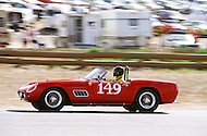 August 26th 1984, Laguna Seca Raceway, CA. 1959 Ferrari 250 GT California. This is the largest concentration of Ferrari, more than 3.000 models and proud owners show their cars and race with them.