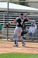 John Buck of the Seattle Mariners participates in the first day of spring training workouts at the Mariners complex on February 13, 2014 in Peoria, Arizona (Bill Mitchell)
