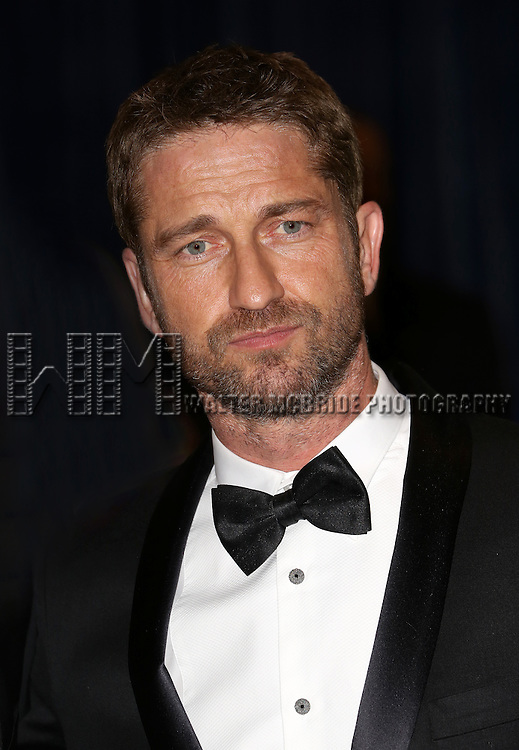 Gerard Butler  attending the  2013 White House Correspondents' Association Dinner at the Washington Hilton Hotel in Washington, DC on 4/27/2013
