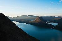 Morning light on Lake Gjende, Jotunheimen national park, Norway