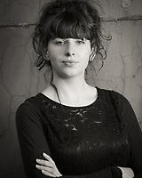 Headshot of actress Georgie Edwards. Manchester, United Kingdom, 09/03/14.