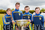 redmond horan, Dylan O'Donoghue, DJ Fealy and Colin Kerins with the Sam Maguire at the opening of the Cordal GAA pitch on Sunday