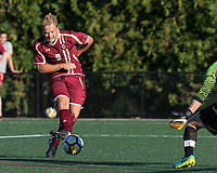 Allston, Massachusetts - October 10, 2017: NCAA Division I. Boston College (maroon) defeated Harvard University (white), 3-1, at Jordan Field.<br /> Goal.