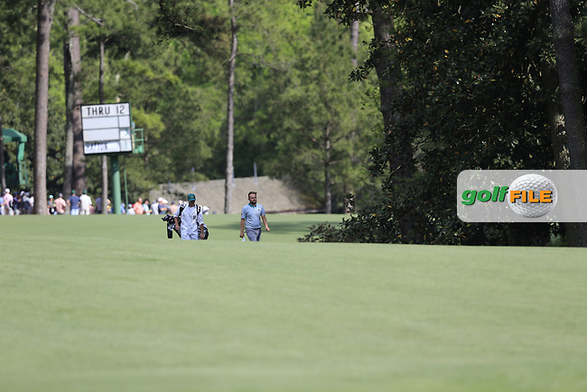 Tyrrell Hatton (ENG) on the 13th fairway during the 1st round at the The Masters , Augusta National, Augusta, Georgia, USA. 11/04/2019.<br /> Picture Fran Caffrey / Golffile.ie<br /> <br /> All photo usage must carry mandatory copyright credit (© Golffile | Fran Caffrey)