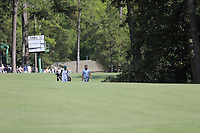 Tyrrell Hatton (ENG) on the 13th fairway during the 1st round at the The Masters , Augusta National, Augusta, Georgia, USA. 11/04/2019.<br /> Picture Fran Caffrey / Golffile.ie<br /> <br /> All photo usage must carry mandatory copyright credit (&copy; Golffile | Fran Caffrey)
