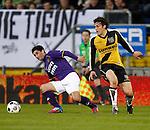 Nederland, Breda, 20 april 2012.Eredivisie.Seizoen 2011-2012.NAC Breda-Roda JC.Sanharib Malki (l.) van Roda JC en Eric Botteghin van NAC Breda strijden om de bal