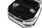 Car stock 2018 Volvo XC90 Inscription 5 Door SUV engine high angle detail view