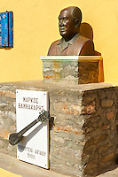 Bust of Rebetiko musician Markos Vamvakaris [ ?????? ?????????? ] 195 - 1972 , Ano Syros,  Syros Island [ ????? ] , Greek Cyclades Islands