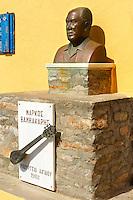 Bust of Rebetiko musician Markos Vamvakaris [ ?????? ?????????? ] 195 - 1972 , Ano Syros,  Syros Island [ ????? ] , Greek Cyclades Islands