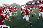 Wisconsin Badgers linebacker A.J. Fenton (17) gets fired up prior to an NCAA college football game against the Ohio State Buckeyes on October 16, 2010 at Camp Randall Stadium in Madison, Wisconsin. The Badgers beat the Buckeyes 31-18. (Photo by David Stluka)