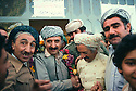 Iran 1979.Abdul Rahman Ghassemlou with his brother and friends after the speech he gave in Mahabad.Iran 1979.Abdul Rahman Ghassemlou avec son frere et des amis apres son discours donne a Mahabad