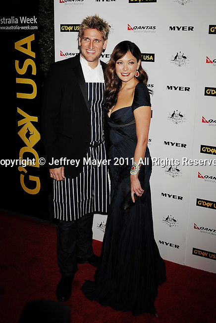 HOLLYWOOD, CA - January 22: Curtis Stone and Lindsay Price arrive at the G'Day USA Australia Week 2011 Black Tie Gala at the Hollywood Palladium on January 22, 2011 in Hollywood, California.