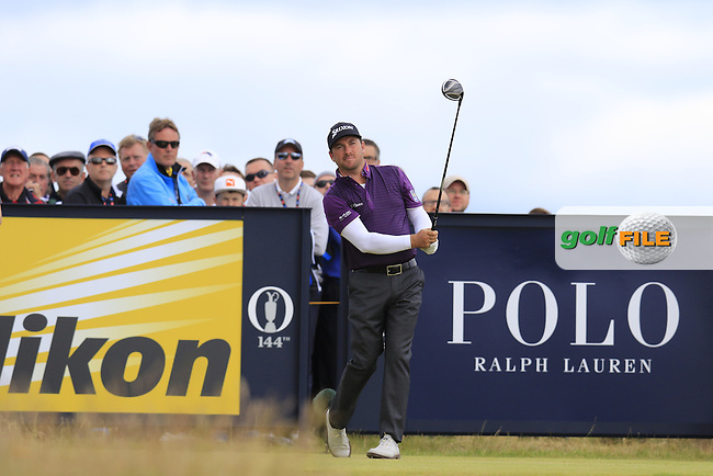 Graeme McDOWELL (NIR) tees off the 15th tee during Sunday's Round  of the 144th Open Championship, St Andrews Old Course, St Andrews, Fife, Scotland. 19/07/2015.<br /> Picture Eoin Clarke, www.golffile.ie