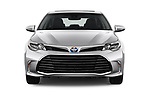 Car photography straight front view of a 2017 Toyota Avalon Limited Hybrid 4 Door Sedan
