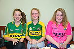 Laura Fitzgerald, Andrea O'Callaghan, Ciara Fitzgerald  getting ready to watch the all Ireland Final, Kerry V Donegal, on Sunday at the Brogue Inn
