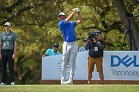 Tiger Woods (USA) watches his tee shot on 10 during day 1 of the WGC Dell Match Play, at the Austin Country Club, Austin, Texas, USA. 3/27/2019.<br /> Picture: Golffile | Ken Murray<br /> <br /> <br /> All photo usage must carry mandatory copyright credit (© Golffile | Ken Murray)