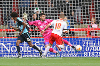 Dean Parrett of Stevenage goes close during the Sky Bet League 2 match between Stevenage and Wycombe Wanderers at the Lamex Stadium, Stevenage, England on 17 October 2015. Photo by PRiME Media Images.