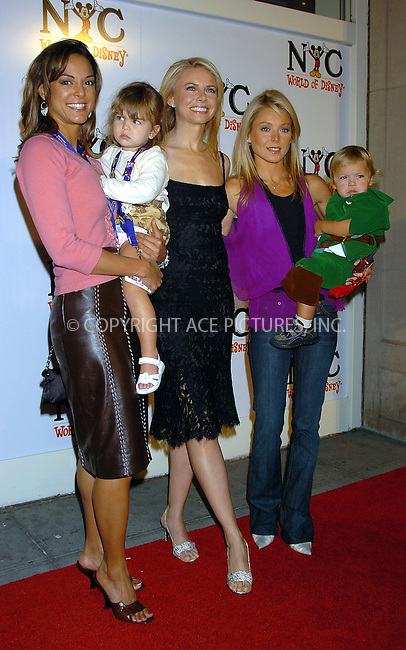 WWW.ACEPIXS.COM . . . . .  ..NEW YORK, OCTOBER 4, 2004: Eva La Rue and Kelly Ripa with their children attending the grand opening of the World of Disney Flagship Store...Please byline: AJ Sokalner - ACE PICTURES..... *** ***..Ace Pictures, Inc:  ..Alecsey Boldeskul (646) 267-6913 ..Philip Vaughan (646) 769-0430..e-mail: info@acepixs.com..web: http://www.acepixs.com