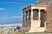 The Caryatids of Erechtheion (421 B.C.) on the Athenian Acropolis, Greece