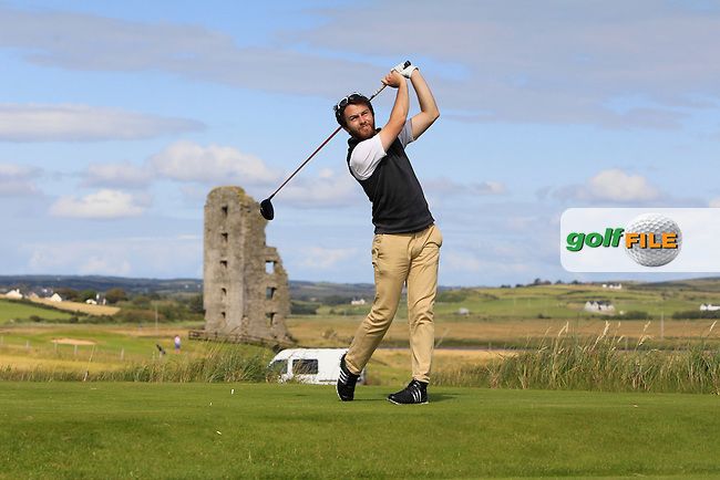 Gerard Dunne (Co. Louth) on the 13th tee during Round 2 of the South of Ireland Amateur Open Championship at LaHinch Golf Club on Thursday 23rd July 2015.<br /> Picture:  Golffile | Thos Caffrey