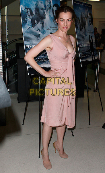 "AYELET ZURER.""Fugitive Pieces"" Los Angeles Premiere at the Landmark Theatre, Los Angeles, California, USA, 14 April 2008 .full length pink dress hand on hip  necklaces .CAP/ADM/`CH.©Charles Harris/Admedia/Capital PIctures"