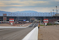 Oct 30, 2016; Las Vegas, NV, USA; Overall view during NHRA top fuel dragster eliminations of the Toyota Nationals at The Strip at Las Vegas Motor Speedway. Mandatory Credit: Mark J. Rebilas-USA TODAY Sports