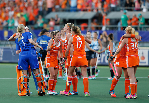12.06.2014. The hague, Netherlands.  Netherlands versus Argentina, semi-final Womens  Rabobank Hockey World Cup 2014. The game ended 4-0 with Netherlands making the final