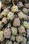 Artichokes in a market