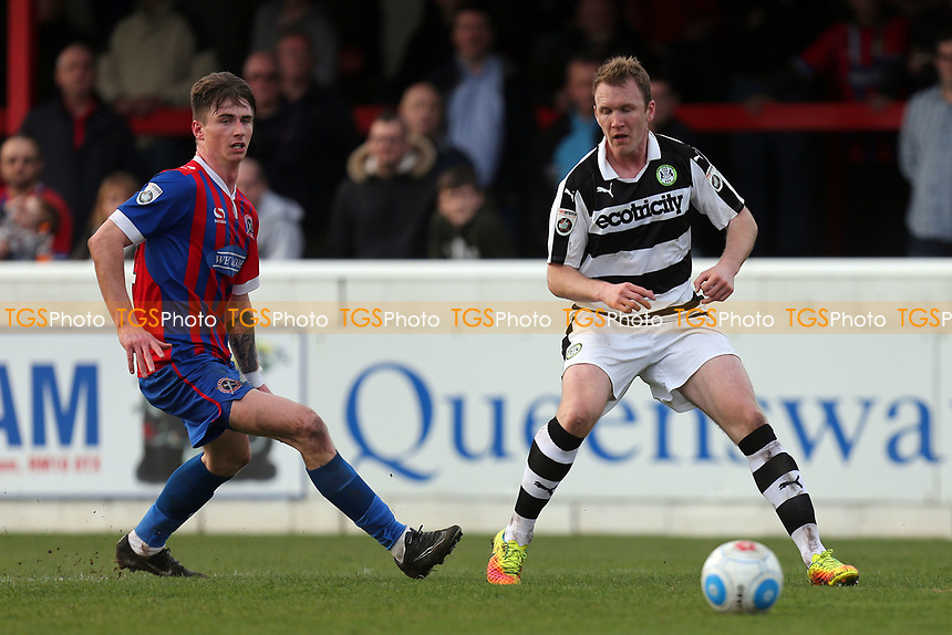 Mark Ellis of Forest Green Rovers and Oliver Hawkins of Dagenham during Dagenham & Redbridge vs Forest Green Rovers, Vanarama National League Football at the Chigwell Construction Stadium on 11th March 2017
