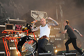The Prodigy - vocalist Keith Flint and keyboardist Liam Howlett performing live as the Headline Act on Day Two on the Second Stage at the 2009 Download Festival at Donington Park UK - 13 Jun 2009.  Photo credit: George Chin/IconicPix