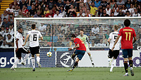 Spain's Fabian Ruiz kicks to score a goal during the Uefa Under 21 Championship 2019 football final match between Spain and Germany at Udine's Friuli stadium, Italy, June 30, 2019. Spain won 2-1.<br /> UPDATE IMAGES PRESS/Isabella Bonotto