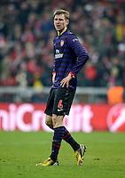 FUSSBALL  CHAMPIONS LEAGUE  ACHTELFINALE  HINSPIEL  2012/2013      FC Bayern Muenchen - FC Arsenal London     13.03.2013 Per Mertesacker (Arsenal)
