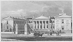 Highbury College, south west front, engraving from 'Metropolitan Improvements, or London in the Nineteenth Century' London, England, UK 1828 , drawn by Thomas H Shepherd